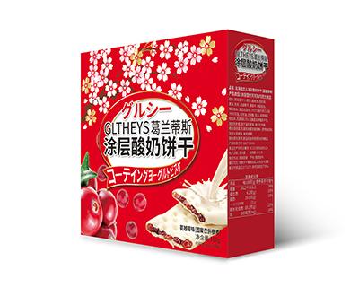 北海道恋人涂层酸奶饼干(蔓越莓味)