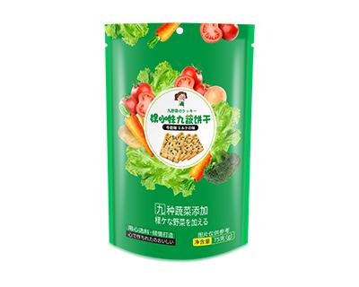 娱小妹九蔬饼干75g(牛奶味)